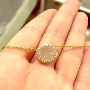 Iridescent drusy necklace
